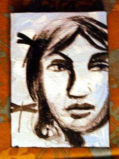 sky portrait little strength hope woman by PaintedValentineArt, $20.00