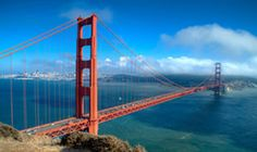 Top 10 places to visit in California!... San Francisco (Golden Gate Bridge)