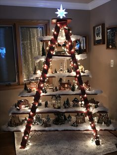 A cleaver way to display your Christmas Village!