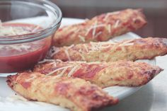 Cauliflower Pepperoni Bread Sticks | Your Lighter Side. Just a side note - It's 12:35 am and the hubby wants to make these immediately! I can't believe they are made from cauliflower!