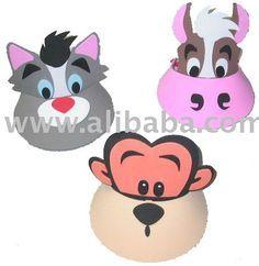 Diy artesanato espuma/ ofício diy kits - animal da viseira de sol, chapéu animal-Artesanato de plástico-ID do produto:103867401-portuguese.a...