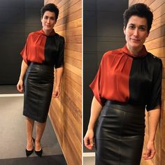 News Anchor, Night Looks, Her Style, Work Wear, Leather Skirt, Pin Up, Classy, Celebs, Stylish