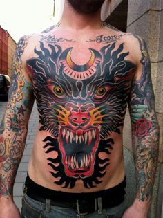 We just collected 15 Gorgeous and Meaningful Wolf Tattoo Designs Photos Here. Take a look than find your favorite picture for inspiration and fun. Japanese Tattoos For Men, Japanese Tattoo Designs, Japanese Tattoo Art, Great Tattoos, Unique Tattoos, Beautiful Tattoos, Tattoos For Guys, Amazing Tattoos, Traditional Chest Tattoo