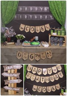 Dinosaur birthday party ideas! See more party ideas at CatchMyParty.com!