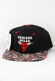 1821cd992d4 Custom Vintage Chicago Bulls Floral Snapback Hat.  59.99