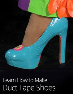 No outfit is complete without matching shoes. In this lesson learn how to cover existing flats or heels with duct tape to compliment any outfit!