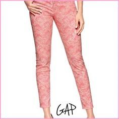 🎉HP 8/24🎉NWT GAP Jeans 🎉Host Pick 8/24 Girly Girl party🎉 NWT (no price tag, but others are still attached) jeans from GAP. Perfect to get you ready for spring and summer!!! These are so bright and cheery and will put a pep in your step. GAP The Legging Jean; Skimmer. Your favorite legging jean, cropped to a chic ankle-skimming length. GAP Jeans Ankle & Cropped