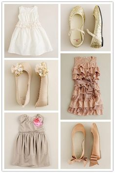 Vintage looking flower girl outfits