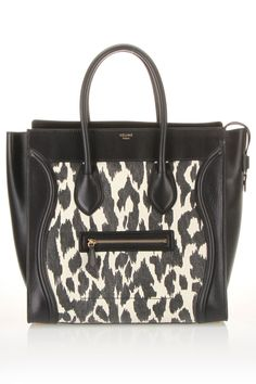 775ac60073f1 Celine Leopard Print Ponyhair Leather Mini Luggage Tote Bag | Love ...