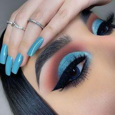 Eye Makeup Steps, Makeup Eye Looks, Beautiful Eye Makeup, Eye Makeup Art, Skin Makeup, Eyeshadow Makeup, Eyeliner, Revlon Eyeshadow, Beauty Makeup