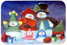 Merry Christmas from Us All Snowman Kitchen/Bath Mat