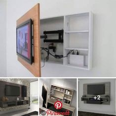 Meuble Tv Angle, Living Room Tv Unit, Living Room Decor, Living Room Designs, Be. - Besten Neu deen decor ideas living room on a budget Bedroom Tv Unit Design, Tv In Bedroom, Bedroom Ideas, Simple Bedroom Design, Bedroom Apartment, Tv Wand Design, Design Salon, Tv Wall Cabinets, Wall Cabinets Living Room