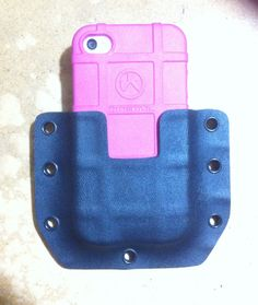 IPhone 4 magpul case with Sabby Tactical kydex holster...