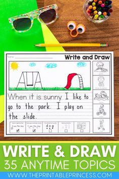 Inspiring little writers is such a joy! Writing is an important skill to practice daily. This resource makes it easy for your kindergarteners with 35 print and go writing worksheets with and without sentence starters. Conventions checklists remind students to edit and revise as they go.