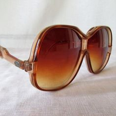 Groovy Vintage Ladies Givenchy Sunglasses 1970's 1980's Unico Made In France #Givenchy