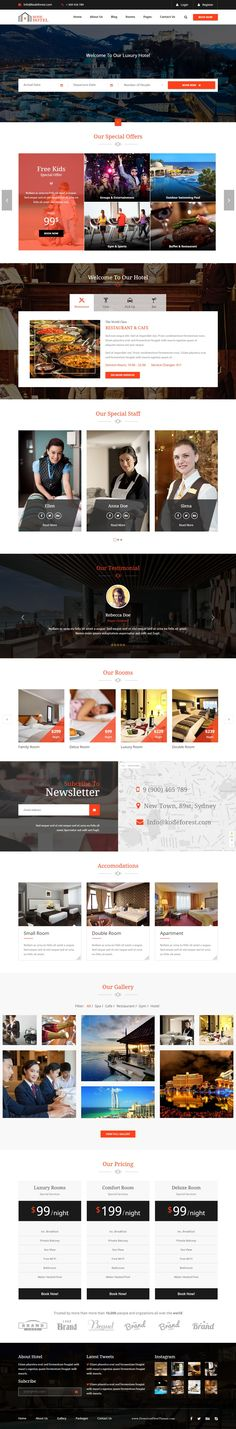 Buy Kode Hotel - Responsive Hotel Template by kodeforest on ThemeForest. The KodeHotel is a premium HTML Template based on latest Bootstrap CSS Framework. It's the best solution for Hotels a. Travel Website Design, Website Design Layout, Web Layout, Website Designs, Website Ideas, Landing Page Inspiration, Web Design Inspiration, Web Design Trends, Design Web
