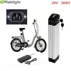 Top discharge 24v 30ah lithium ion ebike battery aluminium case bicycle electric bike battery 24v 700w with charger and bms