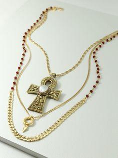 The Viltoria Cross Necklace   Vanessa Mooney