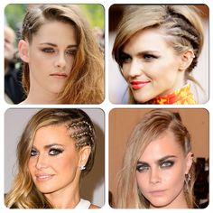 Side part cornrow braid trend #braid #hairtrend #hair