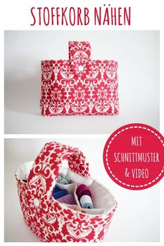 Sewing fabric basket with sewing pattern DIY FASHION- Sewing fabric basket Sewing pattern for beginners Idea Gift Beginners Easter baskets Video instructions DIY MODE Memi Easy Sewing Patterns, Fabric Patterns, Pattern Sewing, Sewing Hacks, Sewing Tutorials, Fabric Crafts, Sewing Crafts, Costura Diy, Diy Mode