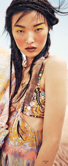 ☮ Bohemian Style ☮ / Tian Yi by Jem Mitchell ~ Vogue China March '15