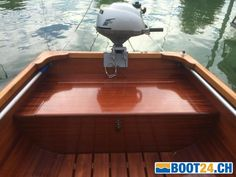 Werftbau Mahagoni Ruder-Motorboot sehr robust kaufen - Jahrgang: 1998, Länge: 4.62 m, Breite: 1.55 m