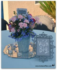Easy and Creative Tabletop Signs for Your Next Party - get the instructions at www.tootsweet4two.com.