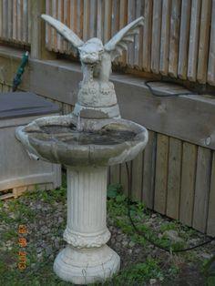 my gargoyle bird bath