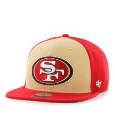 NFL San Francisco 49ers Super Move  47 CAPTAIN Adjustable Hat Red Gold 1  Detroit 14e312c72