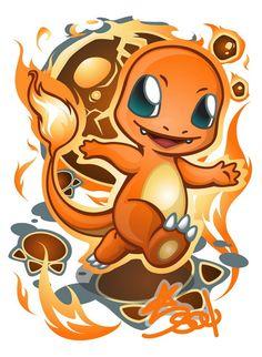 A fellow from outside deviantART realm wants me to draw this cute pokemon. Pikachu Art, Pokemon Fan Art, Personajes Paw Patrol, Pokemon Mignon, Charmander Charmeleon Charizard, Pokemon Starters, Pinturas Disney, Cute Pokemon Wallpaper, My Spirit Animal