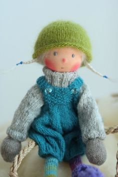 A personal favorite from my Etsy shop https://www.etsy.com/listing/537689448/peperuda-doll-ooak-waldorf-doll-knitted