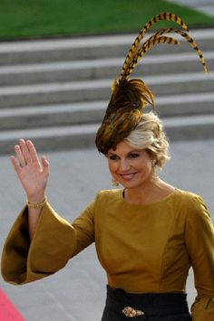 """Princess Maxima of the Netherlands - Love the hat ... want to be referred to as """"Princess Maxima"""" from here on out!"""