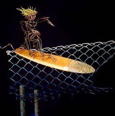 Greg Hill Surfing Surfer Sculpture Statue Weblink: http://www.sportsteel.com/index.html Facebook page: https://www.facebook.com/greg.hill.77312/photos?lst=1623222686%3A100003816759913%3A1441868317