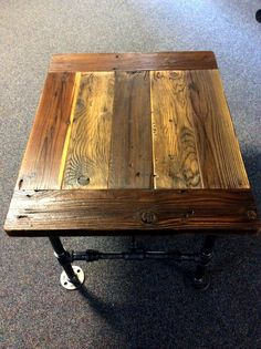 Small Industrial Coffee Table  30 W x 23 D x by ReclaimedWoodGoods, $285.00