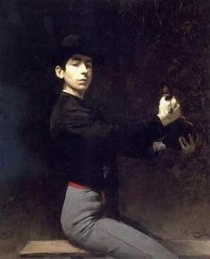 Self-portrait as flamenco dancer (Ramon Casas, 1883)