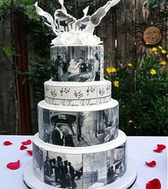 Let Them Eat Cake from 21 Jaw-Dropping Wedding Cakes Slideshow - The Daily Meal Cupcake Art, Cupcake Cakes, Cupcakes, Beautiful Cakes, Amazing Cakes, Hollywood Cake, Elegant Cake Design, Lane Cake, Unusual Wedding Cakes