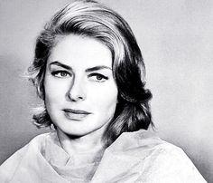 A still very appealing Ingrid Bergman, in the 1960s. lmr