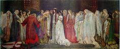 Le château des servantes - Edwin Austin Abbey (April 1, 1852 – August 1, 1911) was an American artist, illustrator, and painter.
