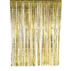 Set the scene with our gold foil curtain. Drop from a doorway or hang from a wall for instant party decor! Also available in iridescent and silver colors. Pack contains: 1 gold foil curtain Curtain size: wide x tall Decoration Buffet, Gold Wedding Decorations, Backdrop Decorations, Bridal Shower Decorations, Hanging Decorations, Backdrop Ideas, Glitter Curtains, Gold Curtains, Fringe Curtains