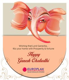 "Europlak India Wishing you all Lots of happiness and Lord Ganesha's Blessings on the auspicious occasion of ""Ganesh Chaturthi""!! #EuroplakIndia #GaneshChaturthi"