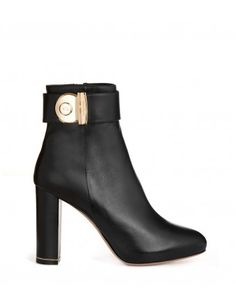 Salvatore Ferragamo Black Ankle Boot - Shop ways to get your wardrobe ready for fall: http://shop.harpersbazaar.com/in-the-magazine/launch-into-fall
