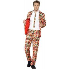 Stand Out Suit Humbug Beetlejuice Halloween Stag Do Comedy Fancy Dress Costume