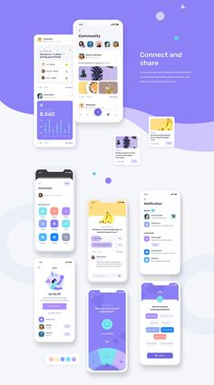 Mobile UI UX for fitness and health app with many features such as step tracking, calorie counter, fitness and workout, meditation, podcast and many more. This template / UI kit is available on Sketch and Figma. Ui Design Mobile, App Ui Design, Interface Design, Brand Design, User Interface, Design Design, Mobile Mockup, Mobile App Ui, Design Thinking