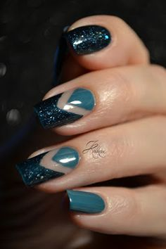 Kakine Nail Art: Saphira Negative Space