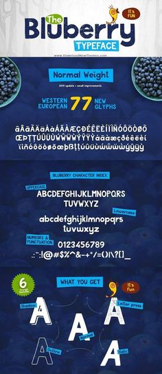 Bluberry is a wonderful display font with fully Western European with 77 new glyphs. Bluberry is a wonderful display font with fully Western European with 77 new glyphs. Graphic Design Posters, Graphic Design Inspiration, Design Ideas, Design Design, Brochure Design, Branding Design, Identity Branding, Corporate Design, Corporate Identity
