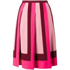 Valentino pleated crepe skirt (53.355 RUB) ❤ liked on Polyvore featuring  skirts, bottoms 5ff0f493580