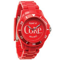 Dynamic crimson bezel, face and band make this timepiece a red-hot unisex accessory and a cool Coca-Cola® collectible! $39.98
