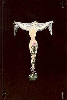Erte' - Alphabet Letter T - Serigraph Egyptian Jewelry, Egyptian Art, Egyptian Costume, Art Nouveau, Art Deco Illustration, Illustrations, Erte Art, Romain De Tirtoff, Art Deco Artists