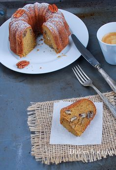 Bundt cake de nueces pecanas - Dulces bocados Cupcakes, Cupcake Cakes, Bunt Cakes, Baking And Pastry, Pound Cake, French Toast, Pie, Sweets, Breakfast