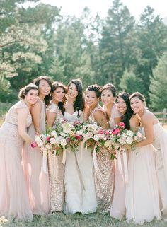 Blush & Gold wedding |vCarol & Dan | Estes Park, Colorado